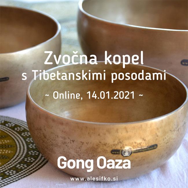 zvočna kopel z gongi ~ Gong Oaza